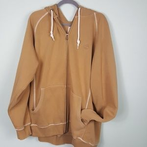 Timberland Zip up hoodie Men's Large khaki color